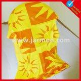 熱い販売の黄色い綿かビーチタオルを広告するMicrofiberの昇進