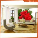 Красная картина маслом декора стены комнаты Rose живущий