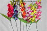 줄기 인공적인 Cattleya 도매 단 하나 난초 훈장을%s 실크 꽃 난초
