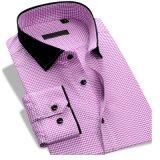 Camicia di vestito convenzionale lunga dal cotone del manicotto di nuovo arrivo per gli uomini