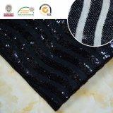 Tela blanco y negro del cordón del bordado de Polyster, el más nuevo estilo para la ropa C10027 de las mujeres