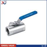 Válvula de bola de acero inoxidable 1PC roscado con el certificado CE