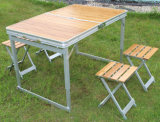 픽크닉 고정되는 5PCS, 픽크닉 테이블 및 의자, 접힌 테이블 및 의자