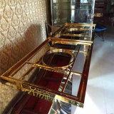Nam de Gouden Marmeren Versiering van het Roestvrij staal van de Spiegel voor het Restaurant van het Hotel toe