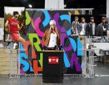 Стойка индикации будочки ферменной конструкции торговой выставки стойки TV индикации выставки портативная
