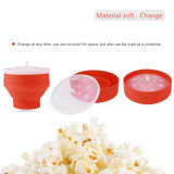 Creative Eco-Friendly Popcorn Vente en gros de prix Food-Grade Silicone Foldable Popcorn Bucket