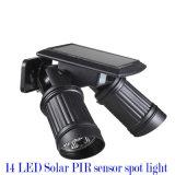 パテントLEDの太陽エネルギーPIRセンサーライト防水IP44庭の太陽壁Soptlight