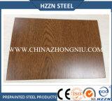 Tôle d'acier enduite d'une première couche de peinture par PPGI en bois des graines dans la bobine