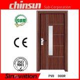 Nueva puerta del PVC del diseño con el vidrio