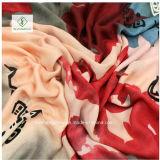 中国Scarfインクによって印刷されるショールの厚いサテンの絹の方法女性