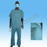 Vestido paciente descartável do cirurgião médico não tecido do hospital dos PP SMS PP+PE