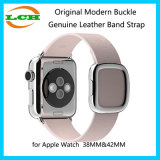 Apple 시계를 위한 본래 현대 버클 진짜 가죽 악대 결박