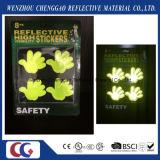 Het fluorescente Gezicht die van de Glimlach Lichte Sticker opvlammen