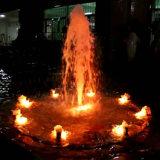 Fonte de água redonda inoxidável da fonte 2m da música do aço