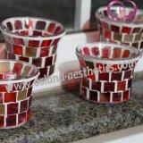 Kop de van uitstekende kwaliteit van de Kaars van de Houder van de Kaars van Tealight van het Glas van het Mozaïek