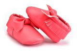 Кожа способа сбывания высокого качества горячая мягко единственная неподдельная ягнится ботинки