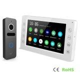Interphone da memória 7 polegadas de telefone video da porta do intercomunicador da segurança Home do Doorbell