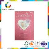 Personalizar o cartão de papel de Chirstmas do aniversário do casamento do presente