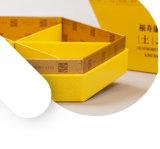 Einfachheit gefärbter gelber Papiernahrungsmittel-Paket-Kasten