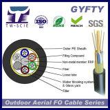Cable aéreo óptico de fibra de la base de GYFTY 24 con el hilado de cristal