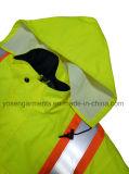 Людей куртка Workwear водоустойчивой Windproof безопасности Hi-Viz отражательной проложенная зимой защитная