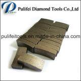 Segment sec aggloméré de morceau de foret de faisceau de granit pour des pièces de machine-outil