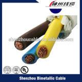 Fil isolé en PVC à base de cuivre solide en Chine