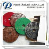 Almofada de polonês cerâmica molhada flexível do diamante da resina