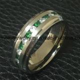Ring de Van uitstekende kwaliteit van het Titanium van de Stenen 30PCS van de Juwelen van Shineme (TR1920)