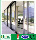 Venta caliente doble vidrio templado puerta corredera de aluminio con As2047
