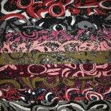 Couro pintado do plutônio do Glitter do projeto para sapatas, sacos, decoração (HS-D01)