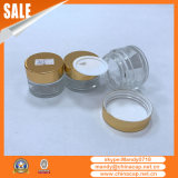 Atacado Custom Aluminum Cream Jar Shinny Gold Lids