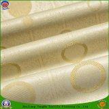 Tissu ignifuge imperméable à l'eau tissé de rideau en polyester de polyester pour le guichet