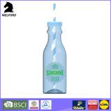 La bottiglia di plastica promozionale della bevanda con paglia personalizza la bottiglia per il latte di plastica