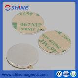 Aimants de disque de NdFeB avec le ruban adhésif de 3m sur N/S Pôle