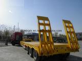 3axles Gooseneck van het Vervoer van het graafwerktuig de Lage Semi Aanhangwagen van het Bed