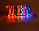熱い販売のカムフラージュプリント電池式の明るいドッグカラー