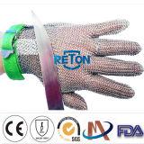 Gants résistants coupés par maille de courrier à chaînes d'acier inoxydable de gants en métal