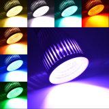 Bulbos del proyector 5W 9W LED de E27 GU10 MR16 RGB LED Wedding las lámparas de la decoración con 12 meses teledirigidos de garantía