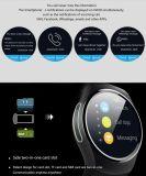 Wristwatch пригодности карточки поддержки SIM TF телефона Smartwatch вахты Kw18 Bluetooth франтовской