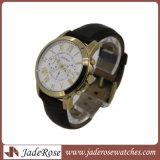 Wristwatch промотирования и способа с неподдельной кожаный планкой