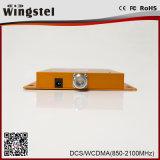 repetidor móvil de la señal de 25dBm 1000m2 Dcs/WCDMA 3G 4G 1800/2100MHz con la antena