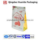 Sachet à thé de empaquetage de sac de café en plastique inférieur carré de Doypack