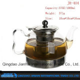Hnadleの大きい容量のガラスビンの茶鍋