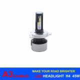 Farol H1 H3 H7 H11 H13 9005 do diodo emissor de luz do carro da lâmpada 45W 6000lm A3 H4 do diodo emissor de luz de Canbus auto 9006 H16 6000k