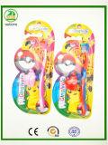 Cartão grande com o Toothbrush da criança do tampão de Animial