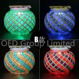 Wasserdichtes Mosaik-Glassolarsun-Glas für Dekorationbuntes helles Solarsun-Glas Lampen-im Freiengarten-Beleuchtung