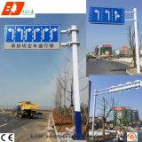 Pólo de sinal de segurança rodoviária de aço galvanizado