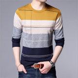كوريا أسلوب [نيت] [ستريبد] قميص حقيرة لأنّ رجل لباس مع كم طويلة