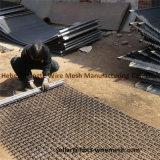 65mn 45mn鋼鉄鉱山のための織り方によってひだを付けられるスクリーンの網